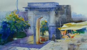 Watercolor paintings by Bijay Biswal India
