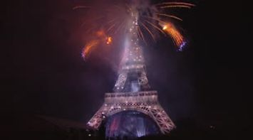 July 14th fireworks Paris Bastille day 2015