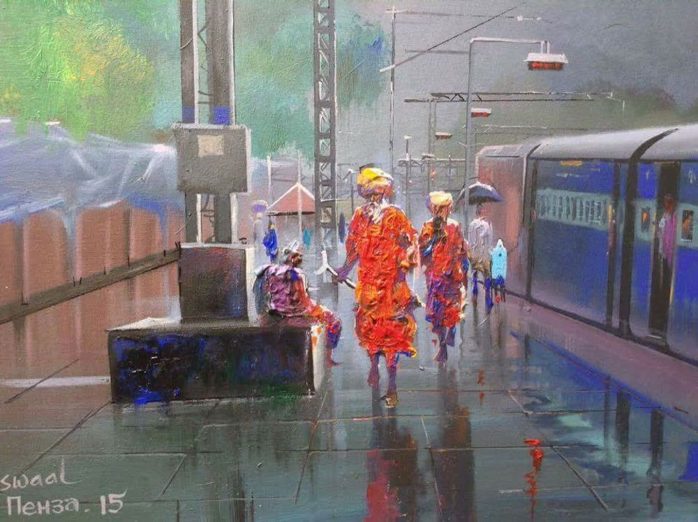 Watercolor paintings by Bijay Biswal,India