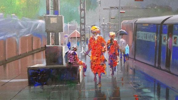 Découvrir India Watercolor paintings by Bijay Biswal India