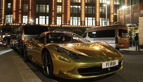 Chrome Gold Ferrari 458 Spider