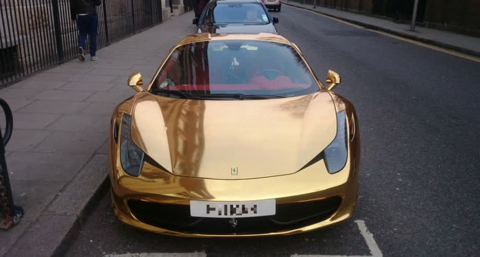title: Chrome Gold Ferrari 458 Spider