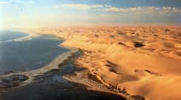 Atlantic meets the Namib desert