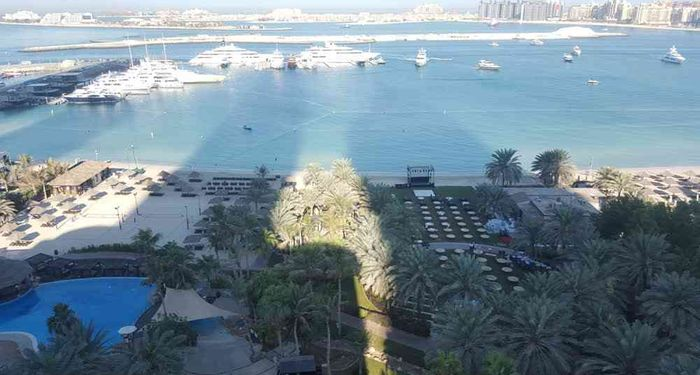 title: Dubai View from Meridien Hotel