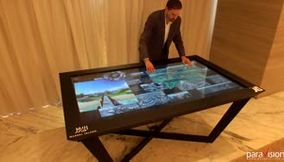 4K Multitouch Table UHD Interactive Application
