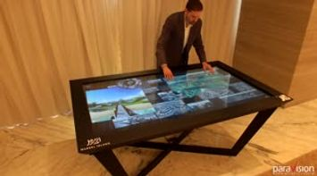 title: 4K Multitouch Table UHD Interactive Application