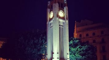 title: Huge Clock At Downtown